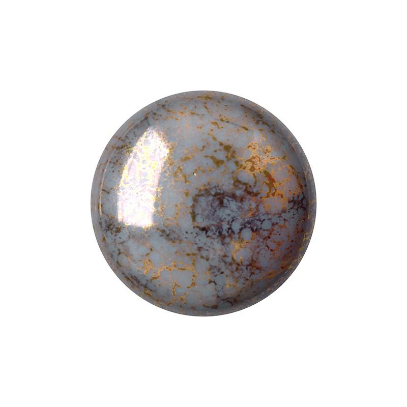 Cabochons par Puca® lasikapussi 18 mm, opaakki marmoroitu pronssinen harmaa