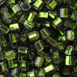 Toho siemenhelmi kuutio 3 mm, hopeasisus oliviini