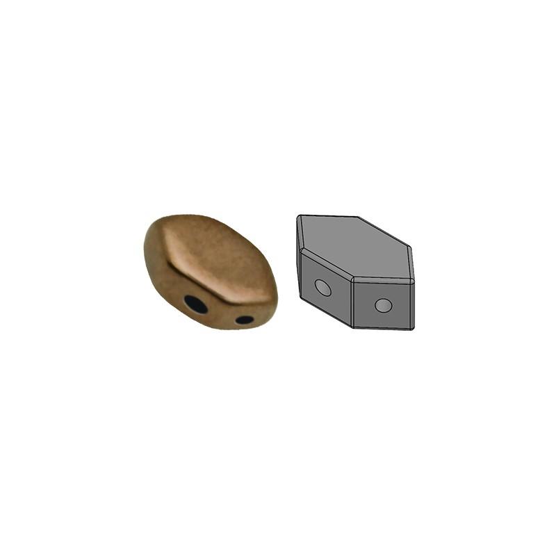Paros® par Puca® lasihelmi 4 x 7 mm, opaakki tumma kultainen pronssi