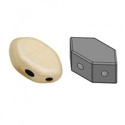 Paros® par Puca® lasihelmi 4 x 7 mm, opaakki keraaminen beige