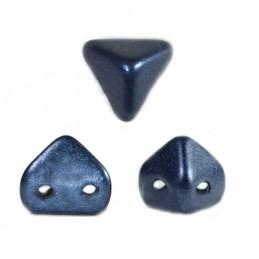 Super-KhéopS® par Puca® lasihelmi 6 x 6 mm, metallinen matta tummansininen