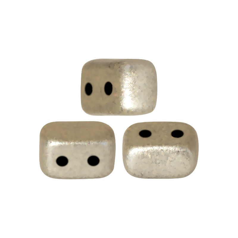 Ios® par Puca® lasihelmi 5,5 x 2,5 mm, metallinen matta beige