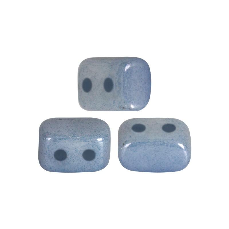 Ios® par Puca® lasihelmi 5,5 x 2,5 mm, opaakki keraaminen sininen