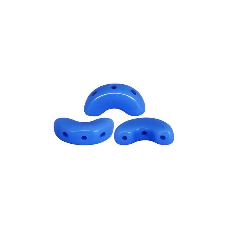 Arcos® par Puca® lasihelmi 5 x 10 mm, opaakki safiirinsininen