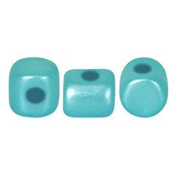 Minos® par Puca® lasihelmi 2,5 x 3 mm, pastelli vedensininen