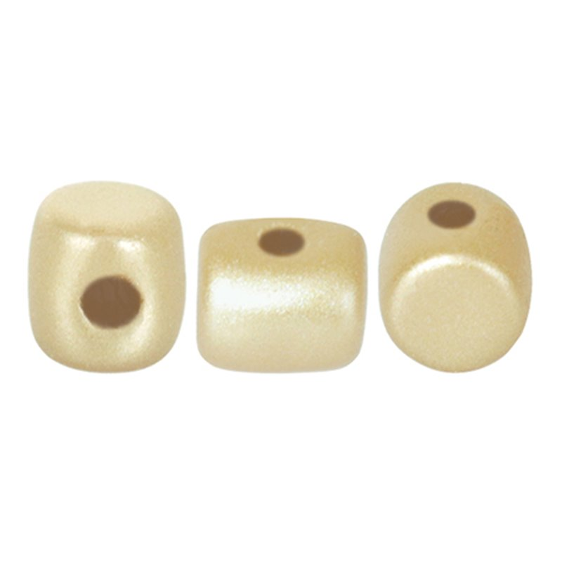 Minos® par Puca® lasihelmi 2,5 x 3 mm, pastelli kerma
