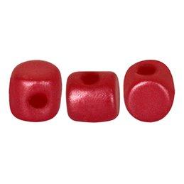 Minos® par Puca® lasihelmi 2,5 x 3 mm, pastelli tumma koralli