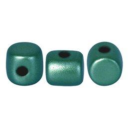 Minos® par Puca® lasihelmi 2,5 x 3 mm, pastelli smaragdinvihreä
