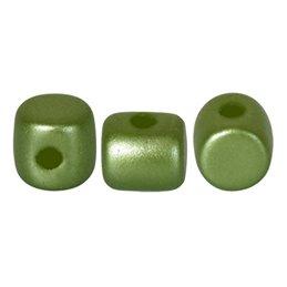 Minos® par Puca® lasihelmi 2,5 x 3 mm, pastelli oliivi