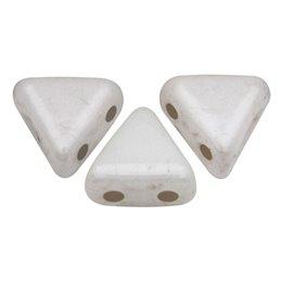 Khéops® par Puca® lasihelmi 6 x 6 mm, opaakki keraaminen valkoinen
