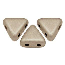 Khéops® par Puca® lasihelmi 6 x 6 mm, metallinen matta beige