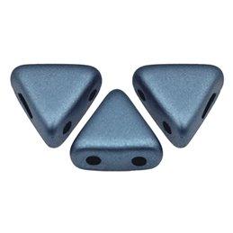 Khéops® par Puca® lasihelmi 6 x 6 mm, metallinen matta sininen