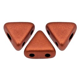 Khéops® par Puca® lasihelmi 6 x 6 mm, matta pronssinen punainen