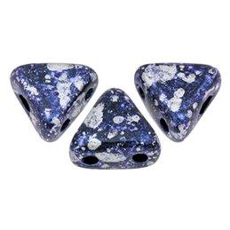 Khéops® par Puca® lasihelmi 6 x 6 mm, sininen tweedy