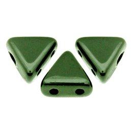 Khéops® par Puca® lasihelmi 6 x 6 mm, metallinen vihreä
