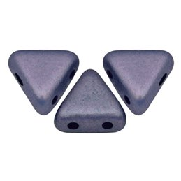 Khéops® par Puca® lasihelmi 6 x 6 mm, metallinen matta tumma violetti