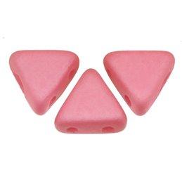 Khéops® par Puca® lasihelmi 6 x 6 mm, opaakki silkkinen matta roosa
