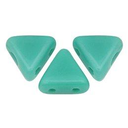 Khéops® par Puca® lasihelmi 6 x 6 mm, opaakki vihreänturkoosi