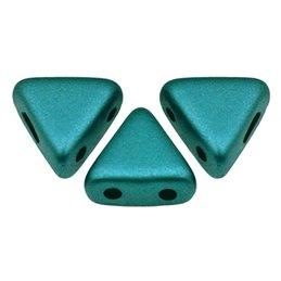 Khéops® par Puca® lasihelmi 6 x 6 mm, pastelli smaragdinvihreä