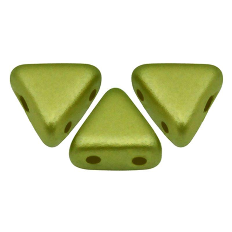 Khéops® par Puca® lasihelmi 6 x 6 mm, pastelli oliivi
