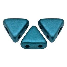 Khéops® par Puca® lasihelmi 6 x 6 mm, pastelli petrooli