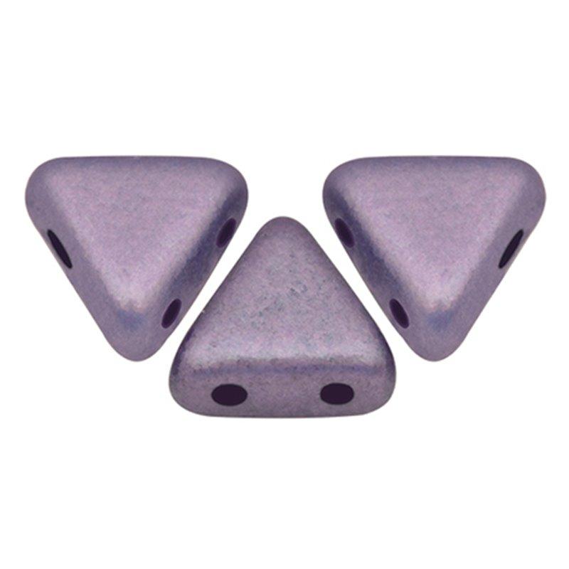 Khéops® par Puca® lasihelmi 6 x 6 mm, metallinen matta violetti