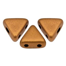 Khéops® par Puca® lasihelmi 6 x 6 mm, matta pronssinen kulta