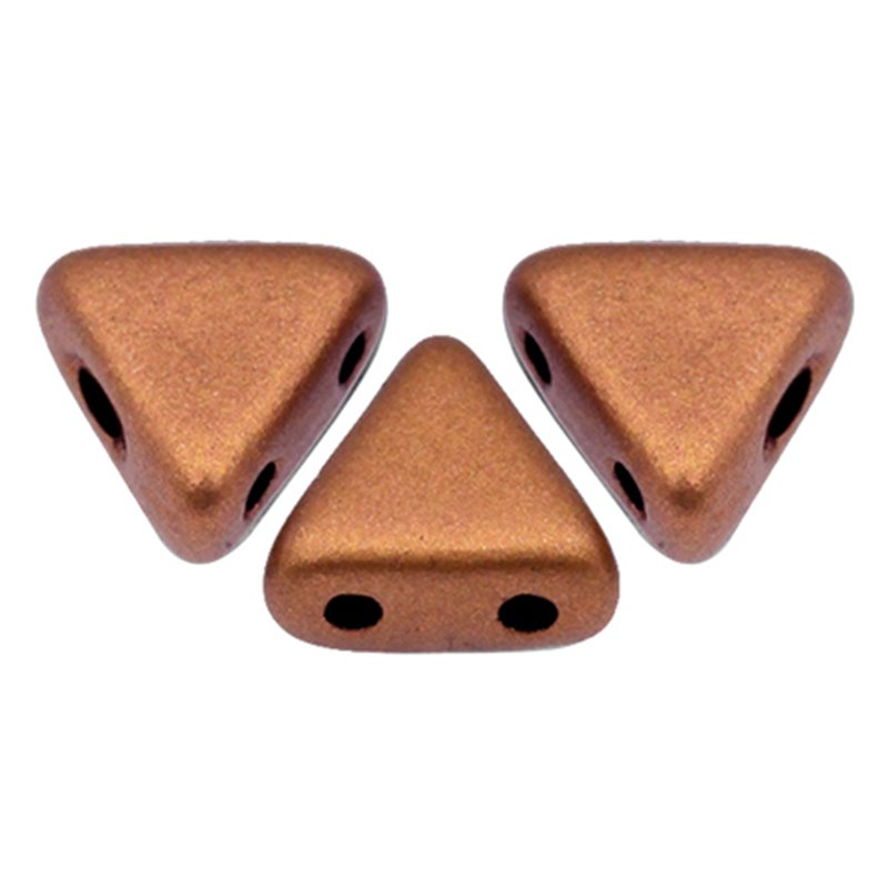 Khéops® par Puca® lasihelmi 6 x 6 mm, matta kuparinen kulta