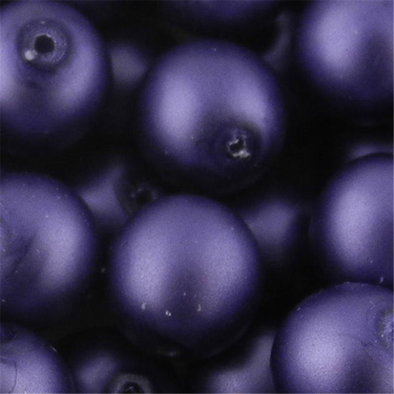 Preciosa pyöreä mattapintainen helmiäislasihelmi 10 mm, lila