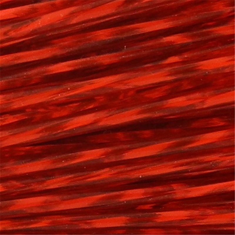 Preciosa putkihelmi 50 mm, kierretty hopeasisus punainen