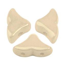 Hélios® par Puca® lasihelmi 6 x 10 mm, opaakki keraaminen beige