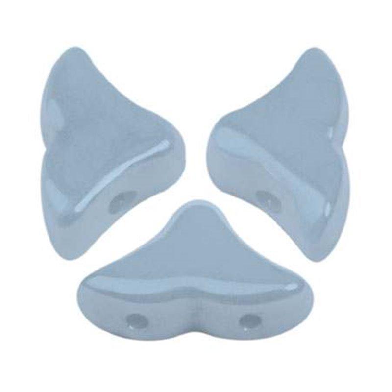 Hélios® par Puca® lasihelmi 6 x 10 mm, opaakki keraaminen sininen