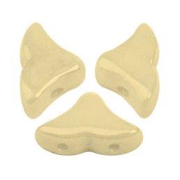 Hélios® par Puca® lasihelmi 6 x 10 mm, opaakki keraaminen norsunluu