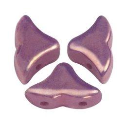 Hélios® par Puca® lasihelmi 6 x 10 mm, opaakki keraaminen ametisti/kulta