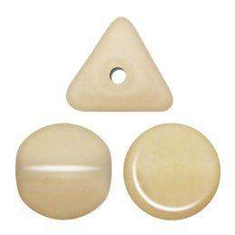 Ilos® par Puca® lasihelmi 5  x 5 mm, opaakki keraaminen beige
