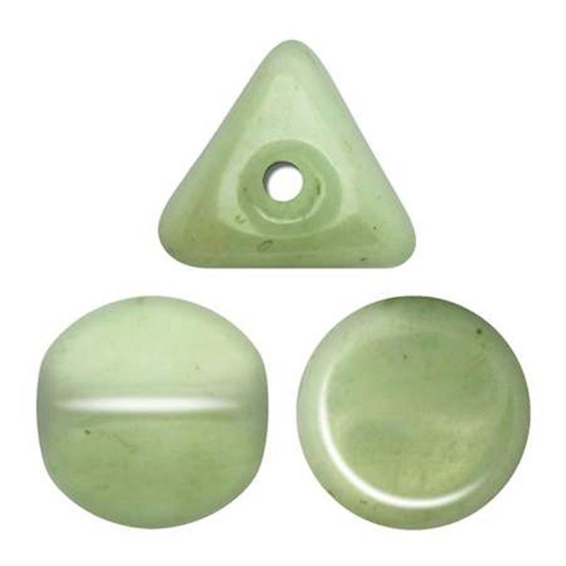 Ilos® par Puca® lasihelmi 5  x 5 mm, opaakki keraaminen vaaleanvihreä