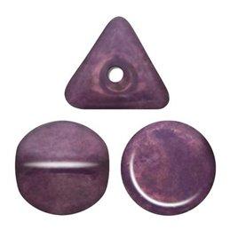 Ilos® par Puca® lasihelmi 5  x 5 mm, opaakki keraaminen ametisti/kulta