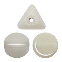 Ilos® par Puca® lasihelmi 5  x 5 mm, opaakki keraaminen valkoinen