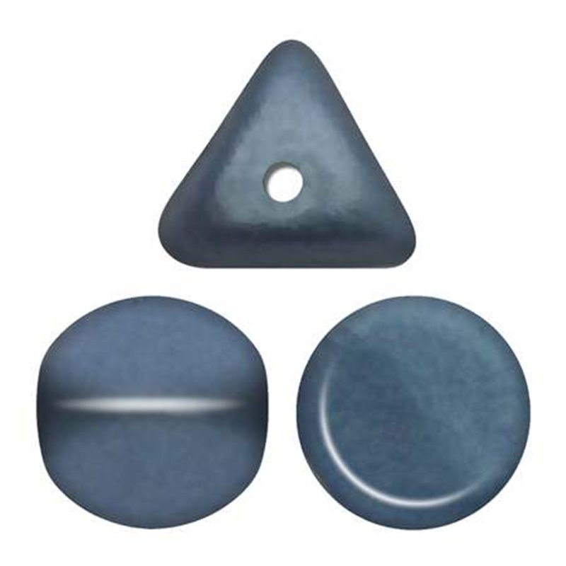 Ilos® par Puca® lasihelmi 5  x 5 mm, metallinen matta sininen