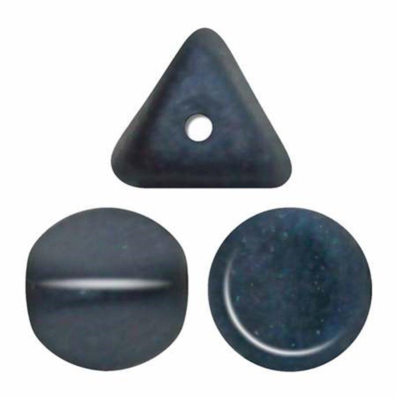 Ilos® par Puca® lasihelmi 5  x 5 mm, metallinen matta tummansininen