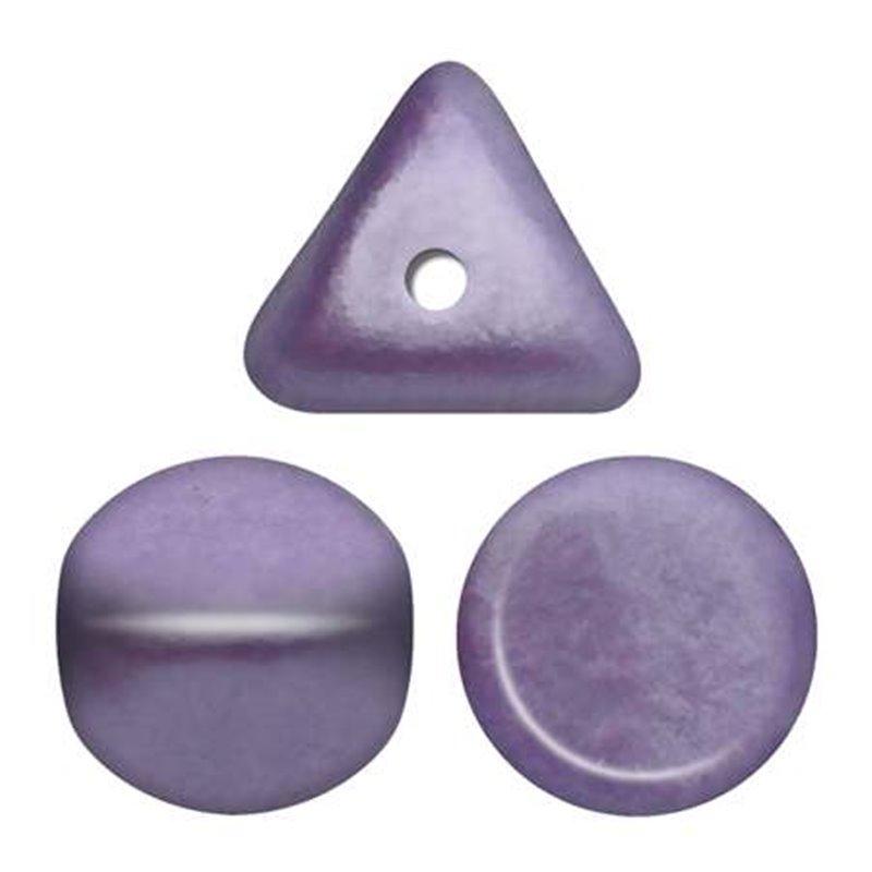 Ilos® par Puca® lasihelmi 5  x 5 mm, metallinen matta violetti
