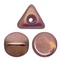 Ilos® par Puca® lasihelmi 5  x 5 mm, opaakki keraaminen violetti/kulta