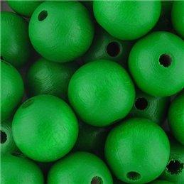 Preciosa pyöreä lakattu puuhelmi 12 mm, vihreä