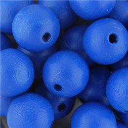 Preciosa pyöreä lakattu puuhelmi 12 mm, sininen