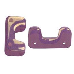Télos® par Puca® lasihelmi 12 x 4 mm, opaakki keraaminen ametisti/kulta