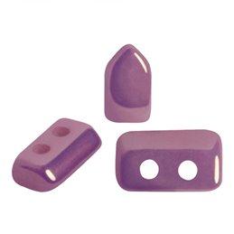 Piros® par Puca® lasihelmi 2 x 5 mm, opaakki keraaminen ametisti/kulta