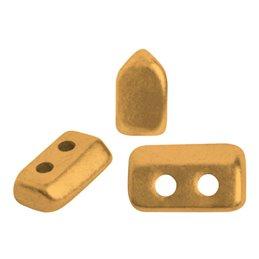 Piros® par Puca® lasihelmi 2 x 5 mm, matta pronssinen kulta