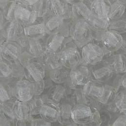 Tsekkiläinen pyöreä lasihelmi 4 mm, kirkas