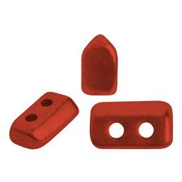 Piros® par Puca® lasihelmi 2 x 5 mm, metallinen matta punainen