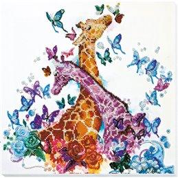 Helmikirjontapakkaus Spotty giraffes